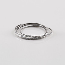 Burnished silver plated bangle set. 64 mm