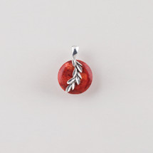 Burnished silver plated leaf pendant
