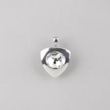 Large burnished silver plated pendant embellished with a Swarovski® crystal