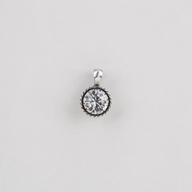 Plated burnished silver pendant encrusted with a classic Swarovski® crystal