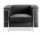 Cubed Leather Faced Reception Chair