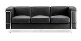 Cubed Reception Three Seater Sofa - Leather Faced