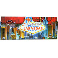 Las Vegas Magnet- Red Skyline