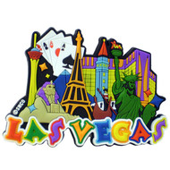 Las Vegas Collage Laser Cut Magnet
