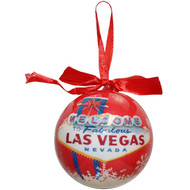 Las Vegas Ball Ornament- RED BALL