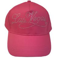 KID SIZE **Las Vegas Souvenir Pink With Silver Studs Baseball Cap