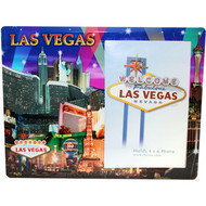 Glass Las Vegas Picture Frame Purple Spotlights Design