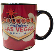 Dice Design Mug with Black Inside - Las Vegas- 12 oz.