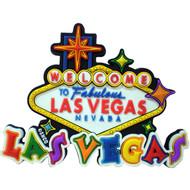 """Sign """"Las Vegas"""" spellout Laser Cut Magnet"""
