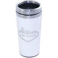 Las Vegas Travel Mug- White Stainless Steel-16oz