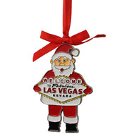 "Las Vegas ""Santa"" Metal Christmas Ornament"
