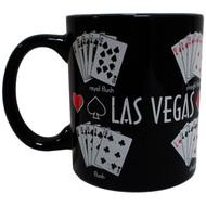 Vegas Souvenir Mug black Pokerhand -11 oz.