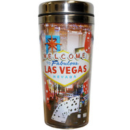 Red Dice Travel Mug Souvenir Las Vegas