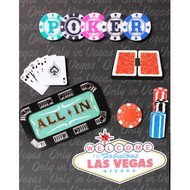 "3-D Embellished Las Vegas ""Poker All In"" Photo Album"