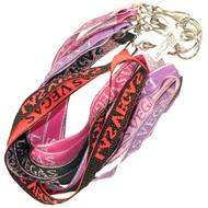 """Las Vegas Souvenir Fancy Laynard Keychains """"Choose Your Colors"""""""
