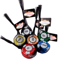"Las Vegas Assorted Poker Chip Mesh ""Party Grab Bags""- SET OF 6"