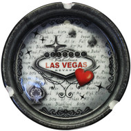 Las Vegas Red & Gray Souvenir Ashtray