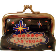 Black Welcome Las Vegas Coin Purse