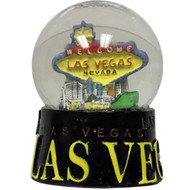 Las Vegas Black Base Snowglobe