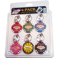 Lucky Las Vegas Poker Chip Keychain-Set