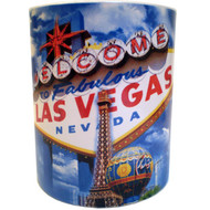 Blue Sky Las Vegas Sign Mug-White-10oz.