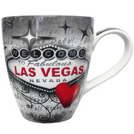 Las Vegas Red & Gray Souvenir Mug- 18oz.