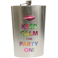 Keep Calm and Party On Las Vegas JUMBO Flask 64oz.