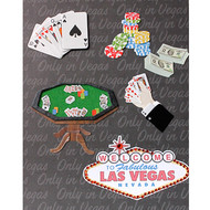 "3-D Embellished Las Vegas ""Poker Hand"" Photo Album"