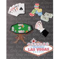"3-D Embellished Las Vegas ""Poker Hand"" Photo Album"