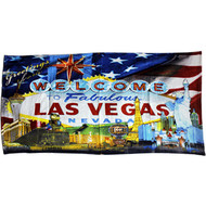 Las Vegas Souvenir Beach Towel FLAG Design