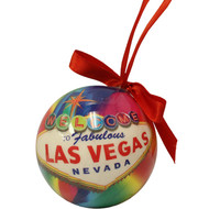 Las Vegas Ball Ornament- Rainbow Burst