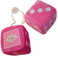Las Vegas Fuzzy/Fluffy Dice- Hot Pink