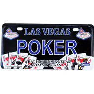 Las Vegas License Plate Magnet- POKER