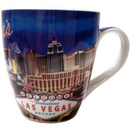 Las Vegas Strip Fluted Mug-18oz