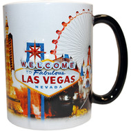 "LV Souvenir Mug ""Embossed Design"" -White Skyline 16oz."