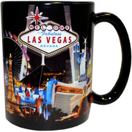 "LV Souvenir Mug ""Embossed Design"" -Blk Spotlights 16oz."