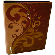 Brown Embossed Las Vegas Photo Album-200 Photos 1