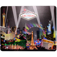 Las Vegas Mousepad Black Spotlight