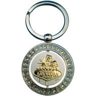 Fabulous Las Vegas Spinner Keyring with Stones