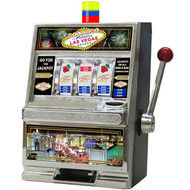LAS VEGAS THEMED Slot Machine Coin Bank