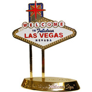 Colorful Las Vegas Sign Paperweight Souvenir