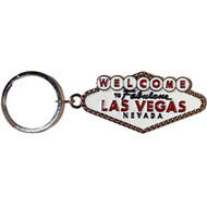 White Welcome Sign Las Vegas Keychain