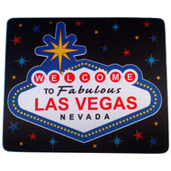 Black Welcome Sign Las Vegas Souvenir Mousepad