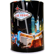 Tin Las Vegas Souvenir Savings Bank- Black Spotlights