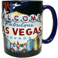 "LV Souvenir Mug ""Embossed Design"" - US Flag 16oz."