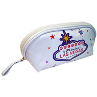 Plastic Las Vegas Cosmentic Bag- White