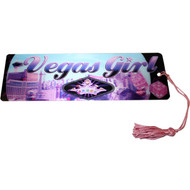 "Las Vegas Souvenir Bookmark ""Vegas Girl"" Design"