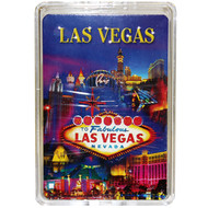 Las Vegas Metallic Collage Playing Cards