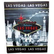 Gray Skyline Las Vegas Photo Album with Colorful Sign Logo