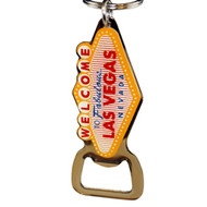 Las Vegas Famous Sign Shape Bottle opener Keychain.
